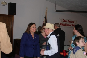 Deb Fischer greeting Lou Algayer and others