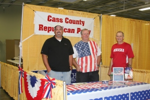 Andy Clements, Louis Geditz, and Dean Helmick working at the GOP booth.