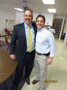 Andy Clements moderated the town hall with Ben Sasse in Elmwood.